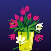 Tulips, poster illustration by Robert Toth