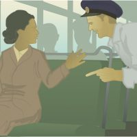 Rosa Parks, educational illustration by Robert Toth