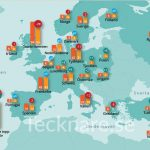 Top companies in Europe, illustrated map