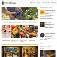 cellarandbottega wine deli webdesign
