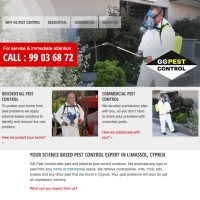 pestcontrol webbdesign company site