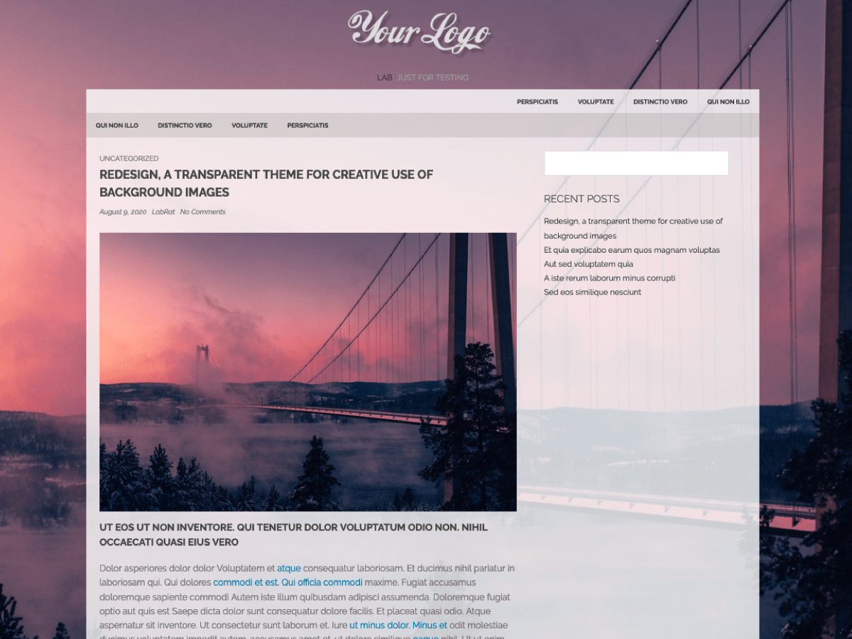 Redesign - Wordpress Theme 3